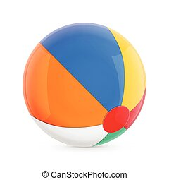 Beach Ball Isolated Illustration on White Background