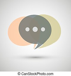 Chat icon vectoron a gray background - Chat icon vector...