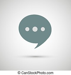 Chat icon vector - Chat icon vector, speak, sign,...