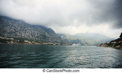 Amazing view of Montenegro, Budva with sea and mountains