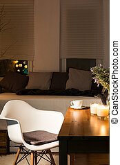 Room of a person with good taste - Modern room with bed,...
