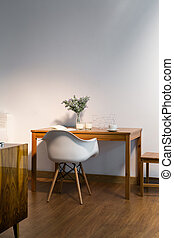 This table suits in cosy interior like that - Simple wooden...