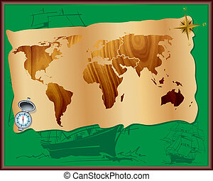 The world of travel - The file contains a world map on a...