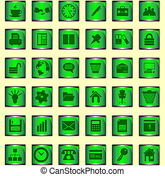 Set of icons - The file contains a set of office icons (36...