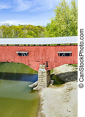 Covered Bridge Abutment - Parke County, Indianas long West...