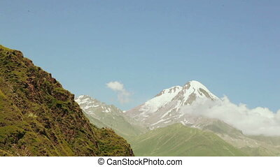 Mountain Kazbek in Georgia - Timelipse Mount Kazbek in...
