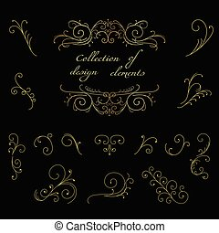 Swirl decorative elements - Collection of swirl decorative...