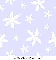 Jasmine flowers pattern - Tender seamless pattern of the...