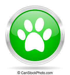 foot green modern design web glossy icon