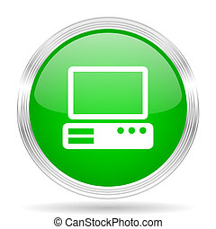 computer green modern design web glossy icon