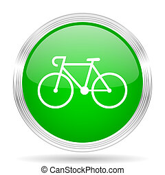 bicycle green modern design web glossy icon