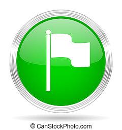 bandera, verde, moderno, diseño, tela, brillante,...