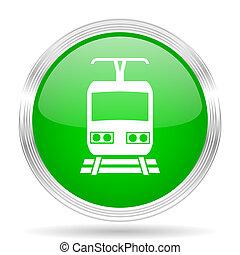 train green modern design web glossy icon