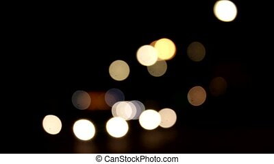A bokeh german Freeway at night