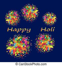 Happy Holi colourful background - Abstract for Happy Holi...