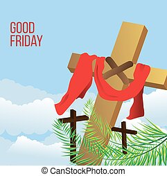 Good Friday background concept with Illustration of Jesus...