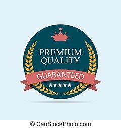 Premium Quality Label Vector Illustration
