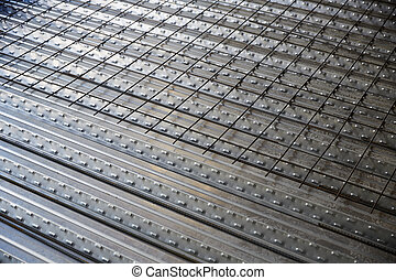 reinforced concrete slab sheet metal formwork - reinforced...