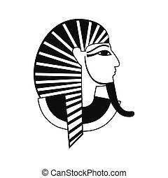 Egyptian pharaoh icon, simple style - Egyptian pharaoh icon...