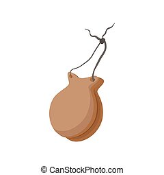 Spanish castanets icon, cartoon style