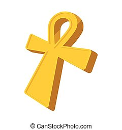 Egyptian Ankh icon, cartoon style - Egyptian Ankh icon in...