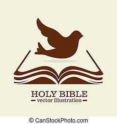 holy bible design - holy bible design, vector illustration...