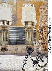 Valencia city Marques de Dos aguas building alabaster facade...
