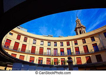 Valencia Plaza redonda round square in Spain