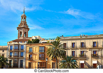 Valencia Plaza Reina square and Santa Catalina - Valencia...