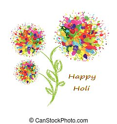 Happy Holi colourful background - Happy Holi colourful...