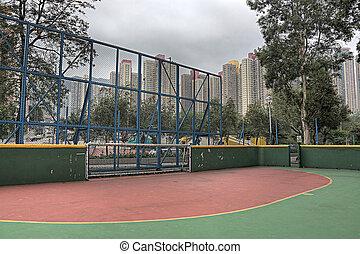 Futsal, Pelota, tribunal, dramático, vista