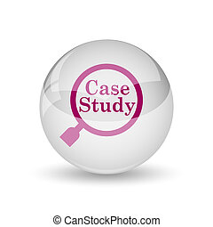 Case study icon Internet button on white background