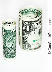 dollars - abstract scene with money