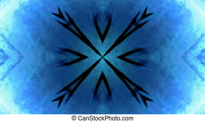 Blue abstract Kaleidoscopic loop - Kaleidoscopic blue...