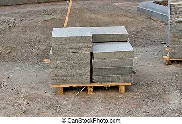 Bunch of marble slabs on the site 1 - Bunch of marble slabs...