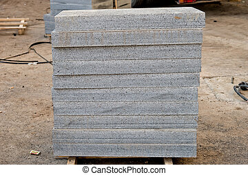 Bunch of marble slabs on the site 2 - Bunch of marble slabs...