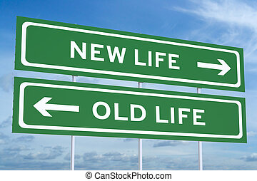 new or old life, Lifestyle choices concept