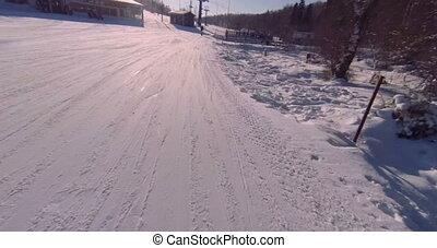 ski slope - Snowboarding.
