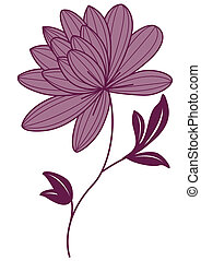 purple lotus flower isolate on the white background