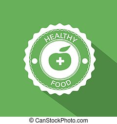 Healthy Food Icon Green Apple