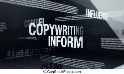 Copywriting, Advertising Terms - Seamlessly looping...