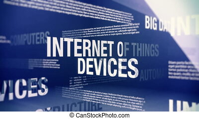 Internet of Things Related Terms - Seamlessly looping...