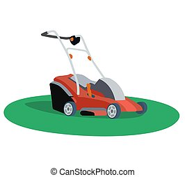 Mower - Illustration of a lawn mower on white background