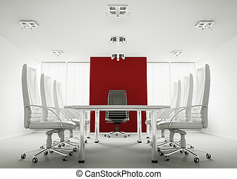 White conference room 3d