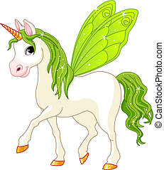 Fairy Tail Green Horse - Green Cute winged horse of Fairy...