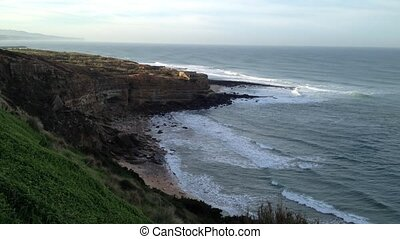 Ribeira dIlhas beach on the portuguese Atlantic coast Beach...