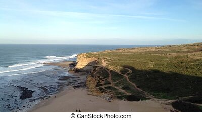Ribeira d'Ilhas beach on the portuguese Atlantic coast....