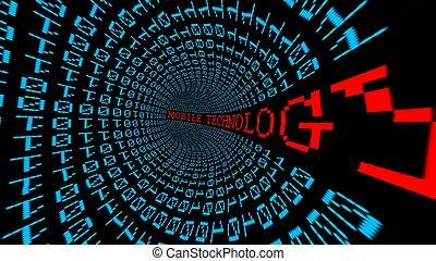 流動, 隧道, 技術, 數据