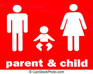 Parent and child sign and symbol Family concept