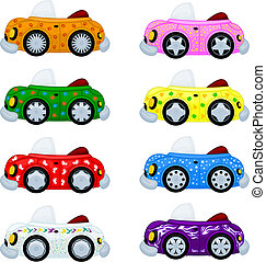 Cartoon cars Easy to replace wheels and stickers